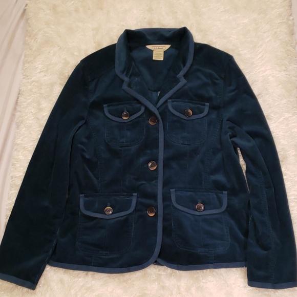 L.L. Bean Jackets & Blazers - LL Bean Dark Blue green Corduroy Blazer